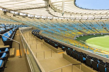 futball: The Maracana Stadium, VIP grandstand in Rio de Janeiro, Brazil Editorial
