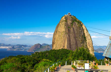 The mountain Sugar Loaf and Guanabara bay in Rio de Janeiro photo