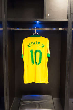 Uniforms of Neymar of Brazil national football team, Rio de Janeiro