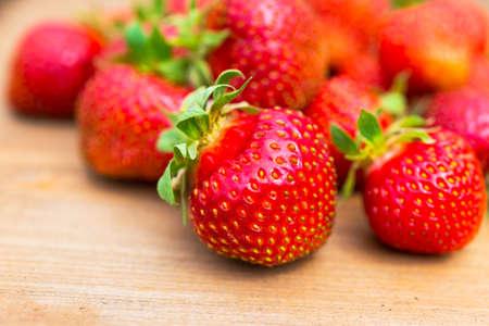 healthiness: Ripe strawberries