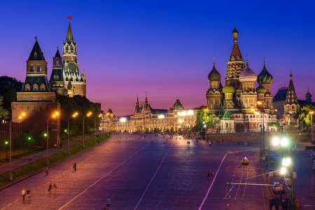 kremlin: Kremlin, Red Square and Saint Basil s Cathedral in Moscow, Russia