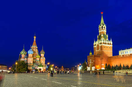 Kremlin, Red Square and Saint Basil s Cathedral in Moscow, Russia photo