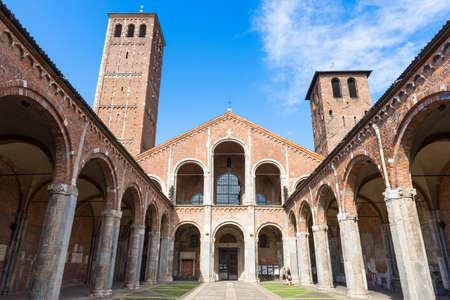 sant: Basilica of Saint Ambrose  Stock Photo