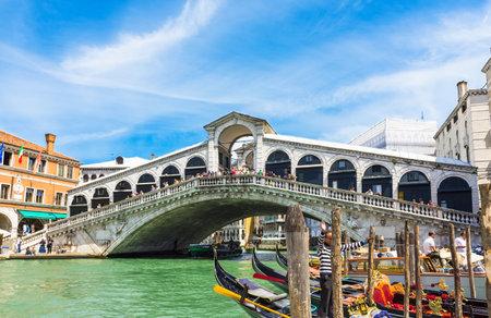 Rialto bridge in Venice. Italy Editorial