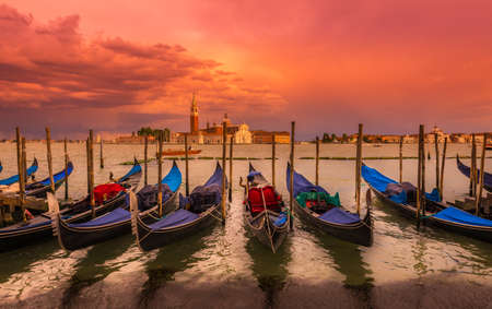 san marco: Sunset in San Marco square, Venice. Italy