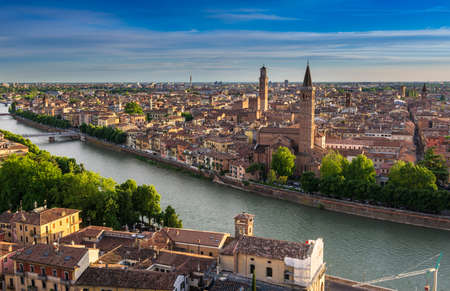 Aerial view of Verona. Italy 스톡 콘텐츠