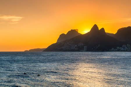 Sunset view of Ipanema in Rio de Janeiro, Brazil