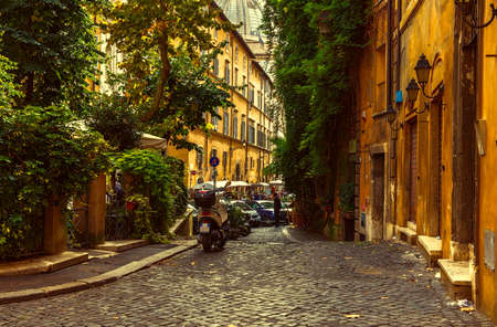rome: Old street in Rome, Italy