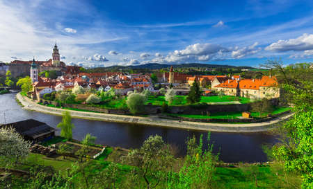 Vista di Cesky Krumlov, Repubblica Ceca