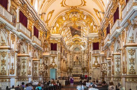 senhora: Church Nossa Senhora do Monte do Carmo in Rio de Janeiro, Brazil Editorial