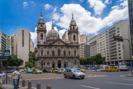 rio de janeiro: church Nossa Senhora da Candelaria in Rio de Janeiro, Brazil