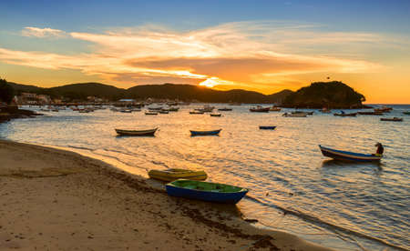 romance sky: Sunset in Buzios. Rio de Janeiro, Brazil