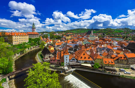 old city: View of Cesky Krumlov, Czech republic
