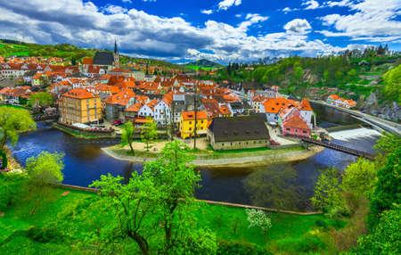 Veduta di Cesky Krumlov, Repubblica Ceca