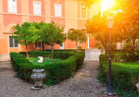 villa borghese: Park Villa Borghese in Rome, Italy