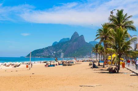 Ipanema beach in Rio de Janeiro. Brazil 스톡 콘텐츠