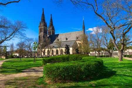 Neo Gothic Basilica of St Peter and St Paul in Vysehrad fortress in Prague, Czech Republic Reklamní fotografie