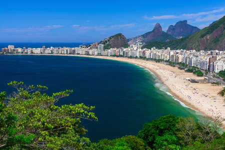 janeiro: Copacabana beach in Rio de Janeiro, Brazil