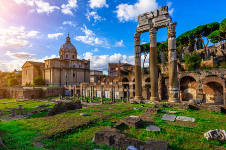 obelisc: Forum of Caesar in Rome, Italy