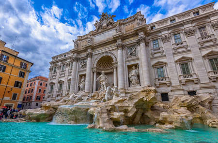 Trevi Fountain (Fontana di Trevi) in Rome, Italy.  Stock Photo