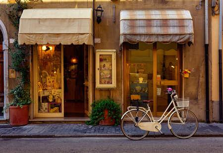 Narrow cozy street in Pisa, Tuscany. Italy
