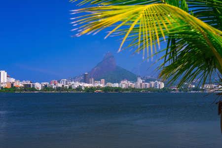 Lagoa Rodrigo de Freitas in Rio de Janeiro. Brazil Stock Photo
