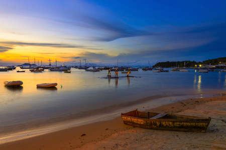 ブジオスの夕日。リオ ・ デ ・ ジャネイロ、ブラジル 写真素材