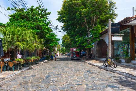 Stone street (Rua das Pedras) in Buzios, Rio de Janeiro. Brazil