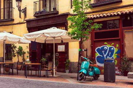 マドリードの町並。スペイン 写真素材