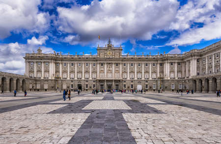 Royal Palace of Madrid in Madrid, Spain