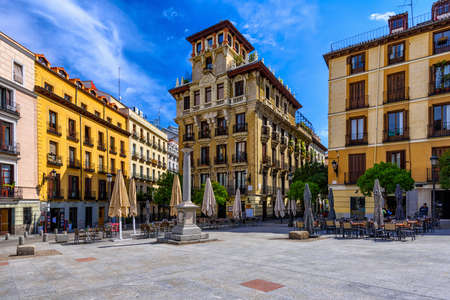 view of old square in Madrid. Spain
