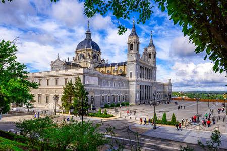 Madrid Cathedral Santa Maria la Real de La Almudena in Madrid, Spain