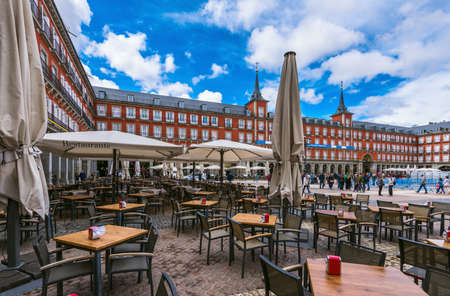 Plaza Mayor in Madrid , Spain Reklamní fotografie