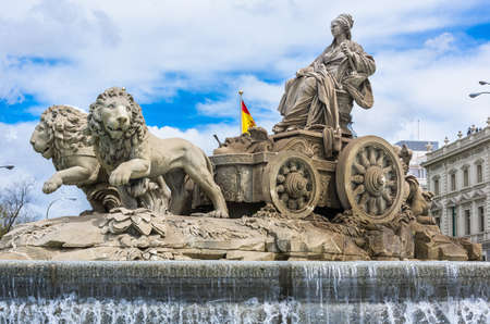 plaza de la cibeles: Cybeles fountain on Cybeles Square (Plaza de la Cibeles) in Madrid, Spain