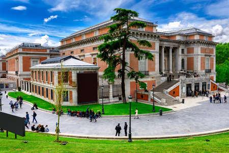 Building of Museo Nacional del Prado (Prado Museum)in Madrid, Spain. Prado Museum in Madrid is the main Spanish national art museum.
