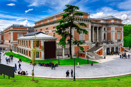 Building of Museo Nacional del Prado (Prado Museum)in Madrid, Spain. Prado Museum in Madrid is the main Spanish national art museum.