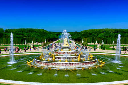 The Latona Fountain in the Garden of Versailles in France