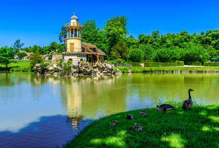 Marlborough Tower in The Hameau de la Reine (The Queen s Hamlet) is a rustic retreat in the park of the Chateau de Versailles built for Marie Antoinette in 1783 near the Petit Trianon, France