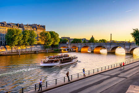 Pont Neuf is the oldest bridge across the river Seine in Paris, France. It is one of the symbols of Paris.