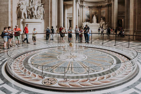 PARIS, FRANCE - MAY 26: The Pantheon is a building in the Latin Quarter in Paris, France. Foucault's pendulum.
