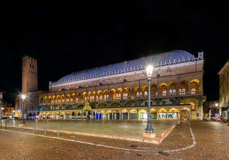 Palazzo della Ragione is a medieval town hall and Piazza dei Frutti Padua (Padova), Veneto, Italy