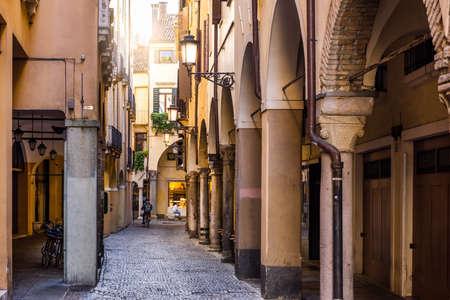 Narrow street in Padua, Veneto, Italy