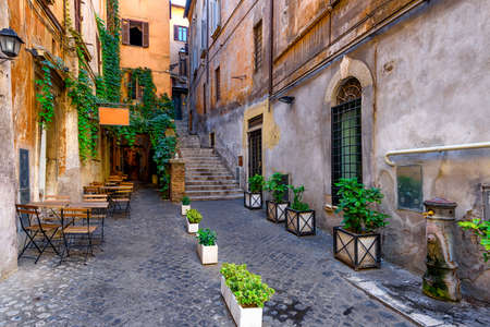View of old cozy street in Rome, Italy Reklamní fotografie