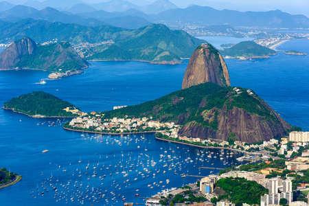 The mountain Sugarloaf and Botafogo in Rio de Janeiro, Brazil