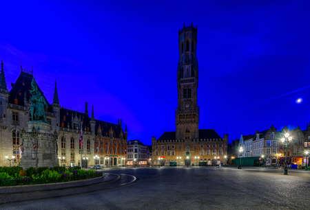 Markt (Market Square), Provinciaal Hof (Province Court) and Belfry of Bruges (Belfort van Brugge) is a medieval bell tower in the center of Bruges, Belgium. One of the most prominent symbols of Bruges