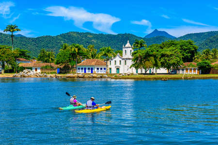 Historical center of Paraty Rio de Janeiro, Brazil. Paraty is a preserved Portuguese colonial and Brazilian Imperial municipality Stok Fotoğraf