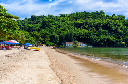 Pontal beach in Paraty, Rio de Janeiro, Brazil. Paraty is a preserved Portuguese colonial and Brazilian Imperial municipality