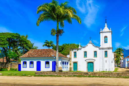 Historical center of Paraty, Rio de Janeiro, Brazil. Paraty is a preserved Portuguese colonial and Brazilian Imperial municipality