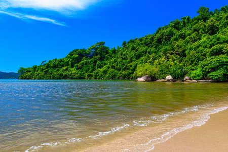 Jabaquara beach in Paraty, Rio de Janeiro, Brazil. Paraty is a preserved Portuguese colonial and Brazilian Imperial municipality Reklamní fotografie