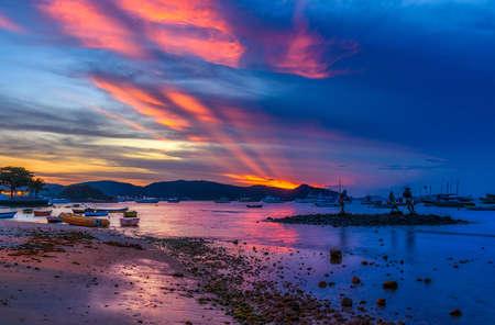 Sunset in Buzios. Rio de Janeiro, Brazil